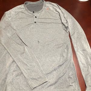 Men's medium lululemon Henley style shirt **